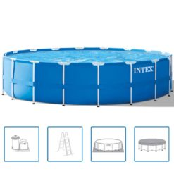 Intex Stålram Rund Pool Set 549 x 122 cm 28252 GN