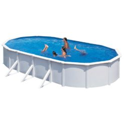 KWAD Poolset Steely Deluxe oval 7,3×3,6×1,2 m