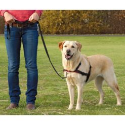 TRIXIE Sele Lead'n'Walk Soft strl L-XL 65-105 cm svart 13057